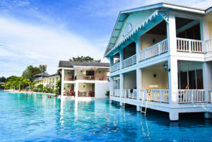 Swim up to a beachfront timeshare villa