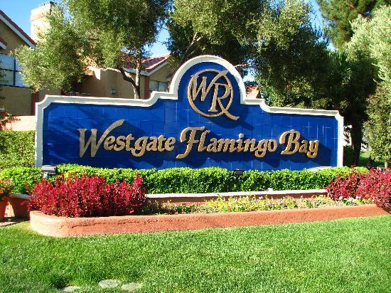 west gate flamingo bay entrance welcome sign