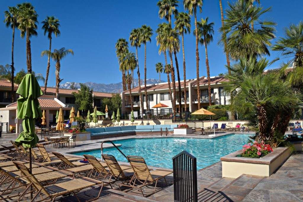 pool at the welk resort in palm springs